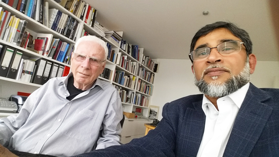 Dr Eng Jorg Schlaich and Maqsood Ahmed